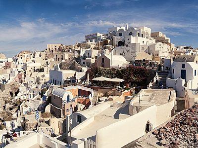 Санторини. Древние городки и поселки острова - украшение этой жемчужины острова