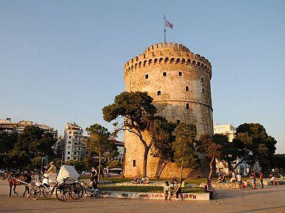 Белая башня в Салониках - юго-восточная граница бывшего Еврейского квартала