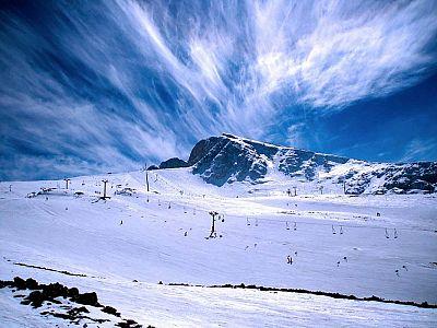 Заснеженные вершины Парнаса