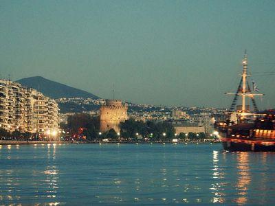 Набережная Салоник и Белая Башня