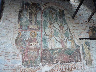 Древо Иессеево. Внешняя настенная роспось в монастыре Мавриотисса.