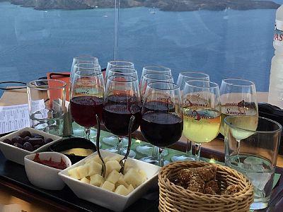 Дегустация вин на Санторини