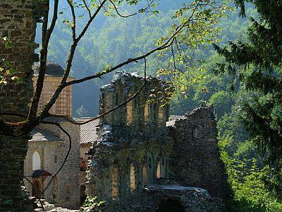 Олимп. Старый монастырь святого Дионисия Олимпийского