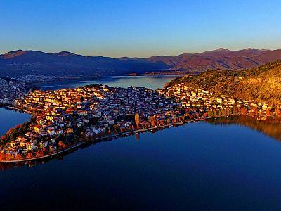 Город Касторья и озеро Орестиада