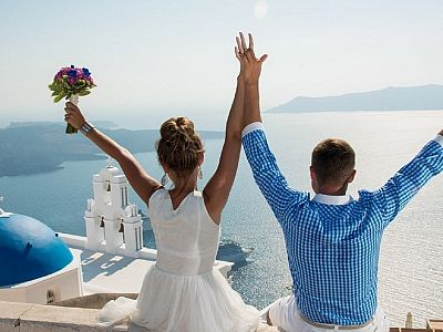 Санторини - рай для влюбленных