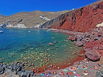 Красный пляж в Санторини